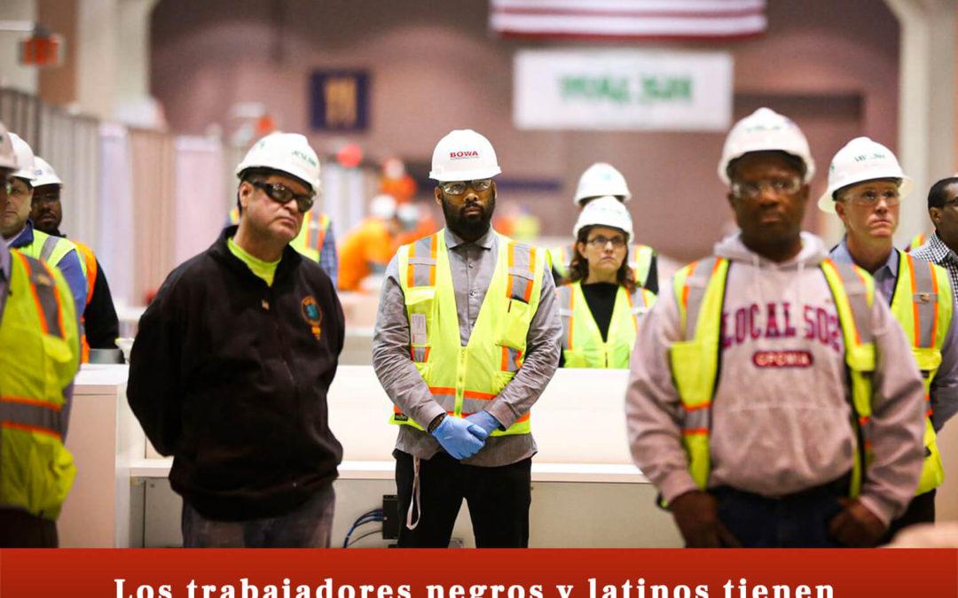 Los trabajadores negros y latinos tienen más probabilidades de lesionarse en el trabajo